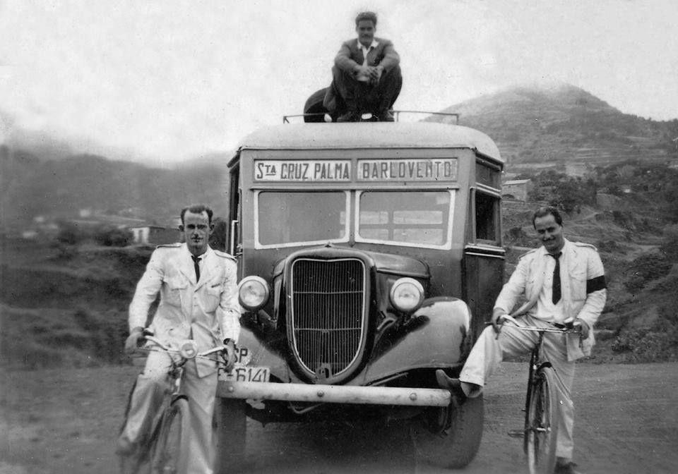 Charabanc La Palma bus of 1950's