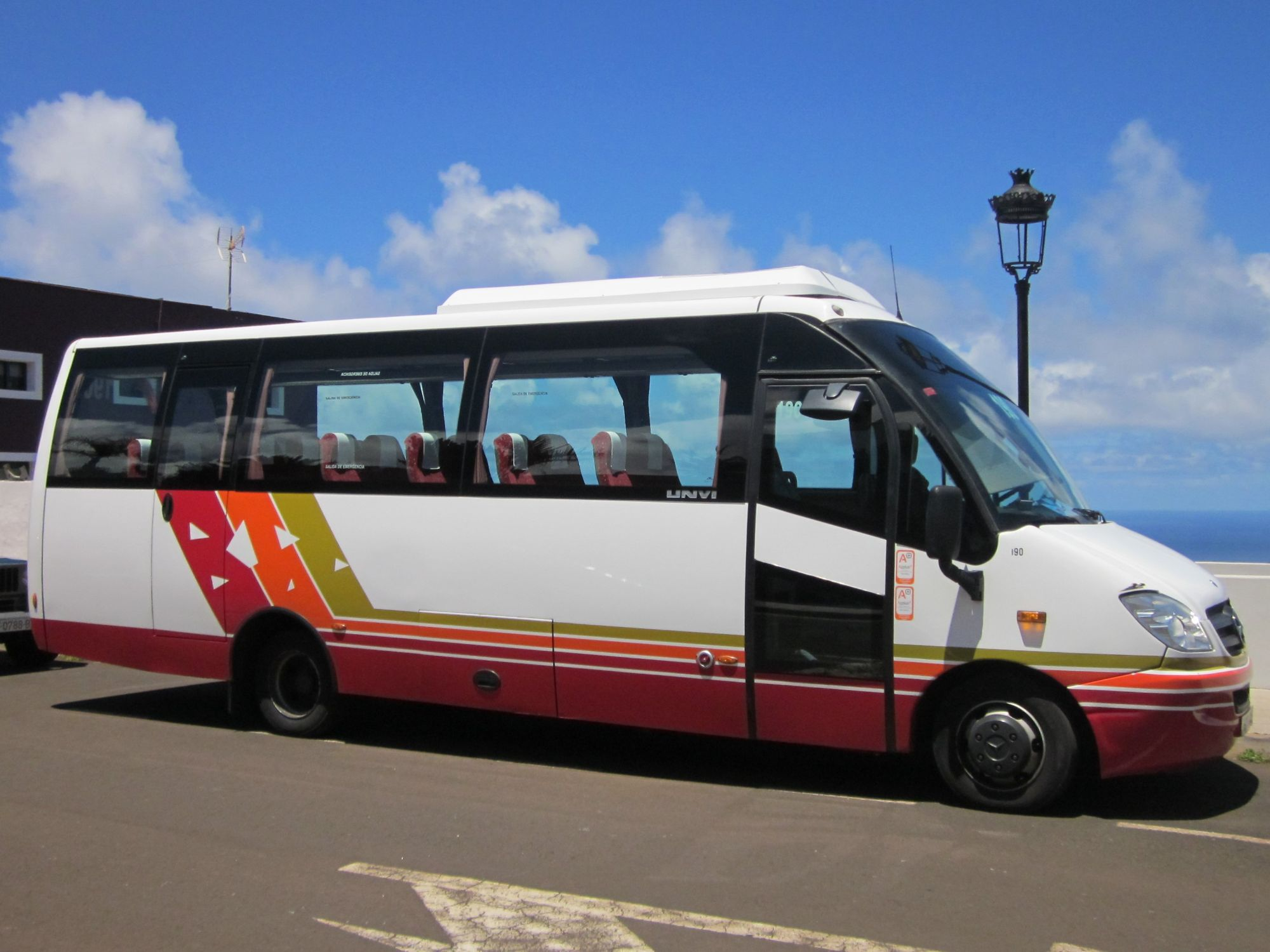 Micro bus used in less-populataed areas