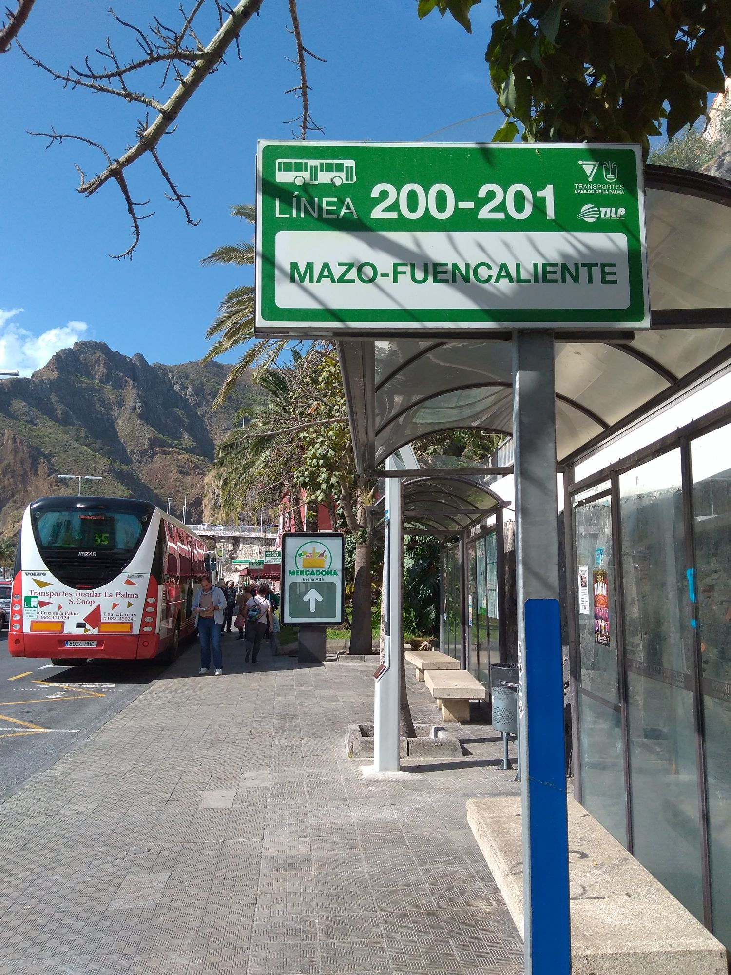 Bus to Fuencaliente from Santa Cruz