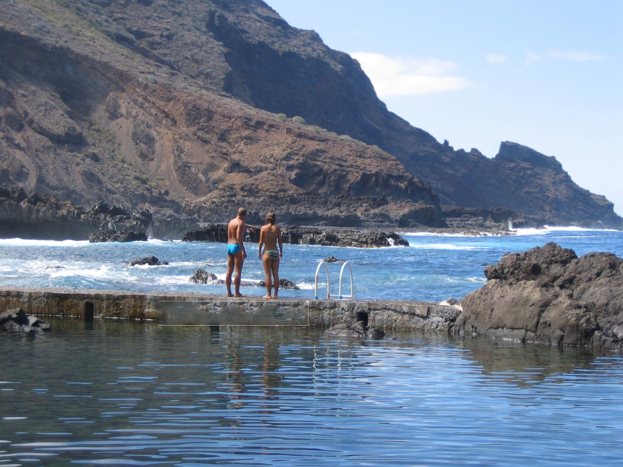 swimming in la palma sea pools