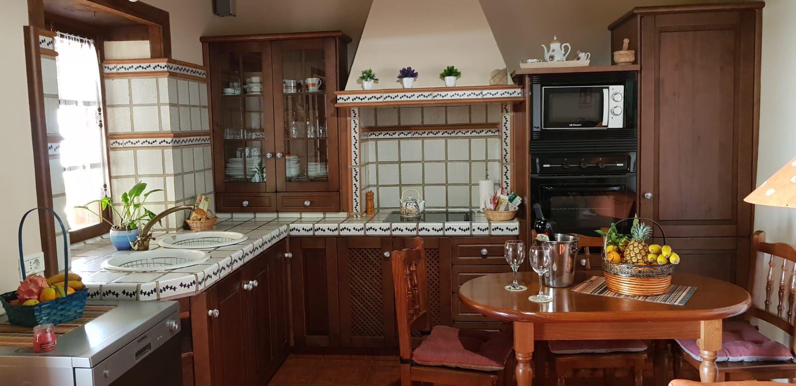 Rustic kitchen of Villa Alicia, Puntagorda