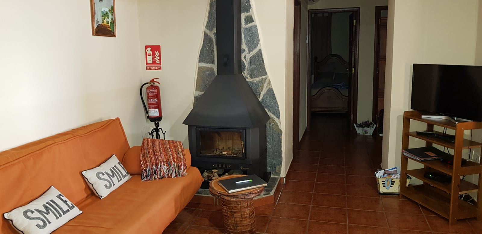 Log fire to keep you cosy in winter months