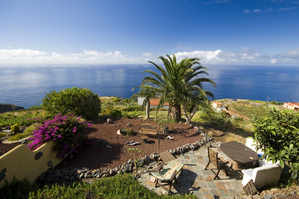 view from casa rural bedroom, franceses, la palma