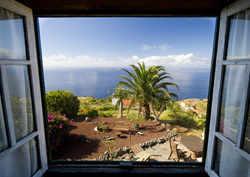 casita, franceses, garafia, la palma, islas canarias view from bedroom window