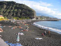 watersports swimming tazacorte beach, la palma, canary islands