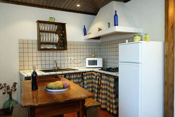 Rustic family kitchen