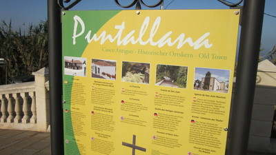 Puntallana notice board