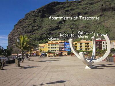 Tazacorte apartments to rent la palma