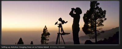 astronomy - observing the night skies La Palma