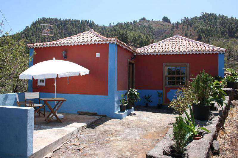 Casa Panchita umbrella in courtyard