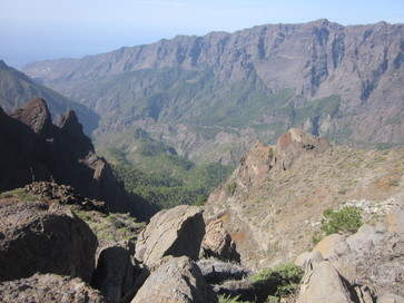 GR131 walk Pico de la Cruz