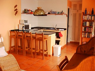 casa victoria kitchen area