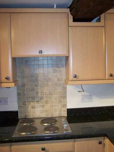 Axiom upstands with tiled splashback