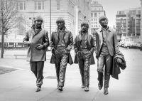 Beatles sculpture - A6 gloss photo card - tent fold