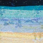 Sky, sea and sand - square side  fold photo card (1010507)