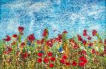 Poppies in a cornfield - A6 tent fold photo card (T002)