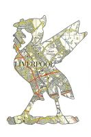 Liver Bird - Side Fold A6 Gloss Photocard (L005)