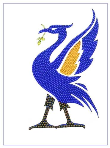 Blue Liver Bird - Side Fold A6 Gloss Photocard (L003)