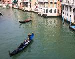 Gondolas on the Grand Canal, Venice, tent fold photocard
