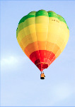 Hot air balloon- side fold photo card