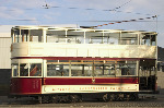 Liverpool Corporation tram - Tent fold photo card