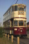 Liverpool Corporation Tram to Prescot - Side fold photo card