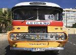 Old Leyland Roadmaster bus - Tent fold photo card