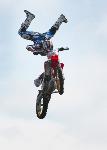 Stunt bike- side fold photo card