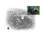 Vintage Morris  car - side fold photo card