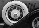 Vintage Car detail - Tent fold photo card