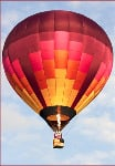 Hot air balloon -side fold photo card