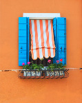 Window - Burano - Side fold photo card