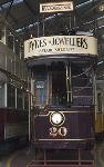 Woodside tram - side fold photo card