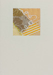 Textured cream card with silk and satin design in shades of yellow