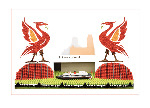 Liverbirds on the Waterfront - Tent fold photo card (L008)