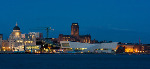 Liverpool Anglican Cathedral and waterfront at night (4787)