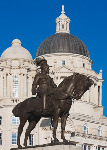 Statue of King George V mounted on horseback, Liverpool (4148)