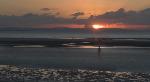 Antony Gormley Iron Man at sunset (2079)
