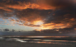 The River Mersey at Sunset - Tent Fold Photo Card (910)