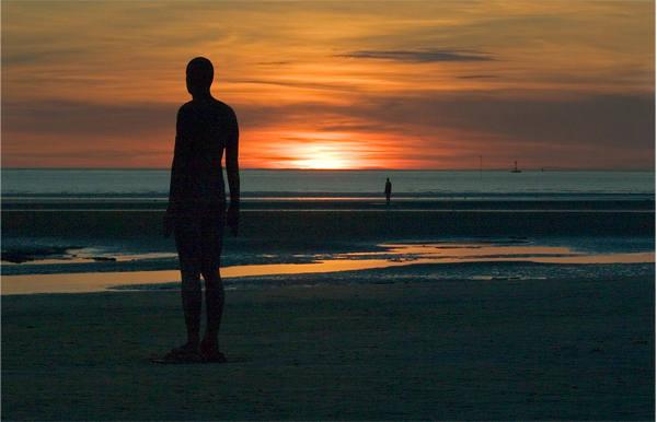 Antony Gormley's Another Place Iron Man Photographic Print