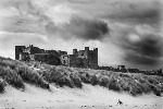 Monochrome Print of Bamburgh Castle, Northumberland