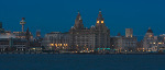 Panorama of Liverpool waterfront at night (4775p)