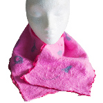 Unique, hand-made nuno felt scarf in pink