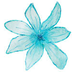 Turquoise organza flower corsage (110198)