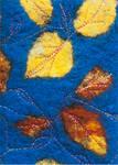 Feltwork Leaves - Side Fold A6 Photocard (P11085 C)