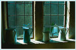 Jugs on Sunlit window ledge -Photographic Print (jugs1)