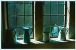 Jugs on Sunlit window ledge -Photographic Print (jugs1)