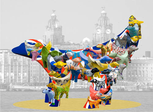 L017-Superlambanana with collage of others