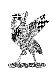 Liver Bird Zentangle - side fold matt photo card (L009)