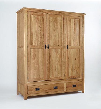 The Westbury Reclaimed Oak Triple Wardrobe
